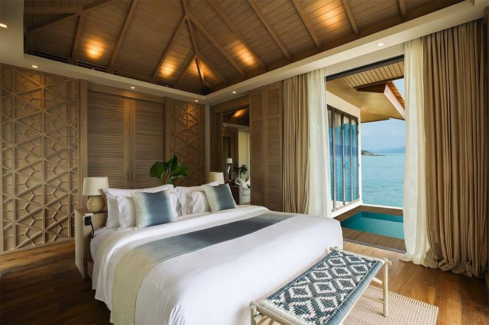 This stunning hotel takes over a private island just northeast of Samui