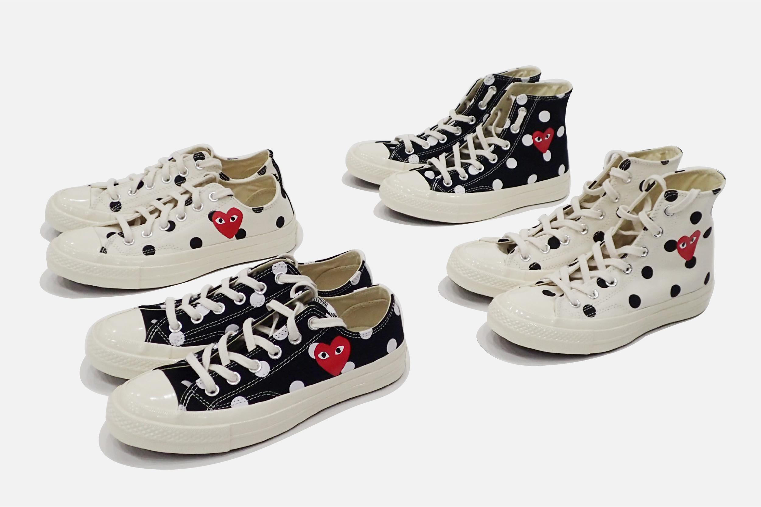 3de13befeb7202 Comme des Garcons PLAY x Converse polka-dot sneakers land in Bangkok  tomorrow