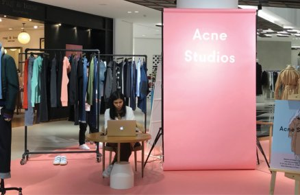 Acne Studios pop-up store