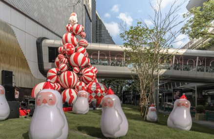 "Central Embassy's ""Rotating Candy Christmas Tree"""