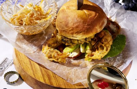 Single Decker Soft Shell Crab Burger