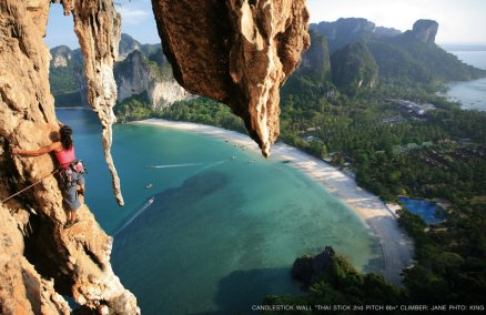 Rock climbing at Railay