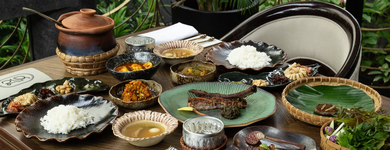 A spread at Sorn, one of Thailand's two-Michelin-starred restaurants last year