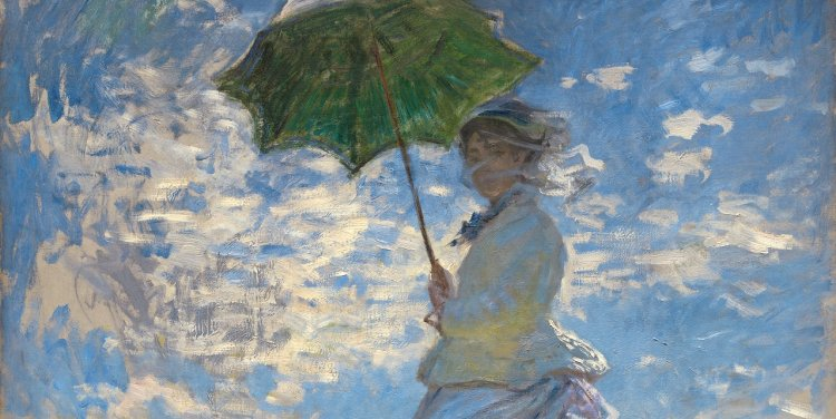 """""""Woman with a Parasol"""" By Claude Monet"""