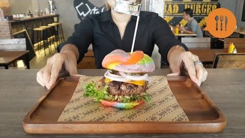 Embedded thumbnail for This Bangkok restaurant is serving rainbow burgers for Pride Month