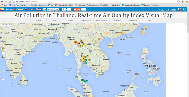 Will The Samut Prakan Air Pollution Kill You The 4 Apps Maps And