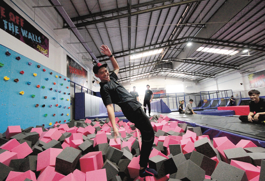 Image result for Jump trampolines at Bounce Bangkok.