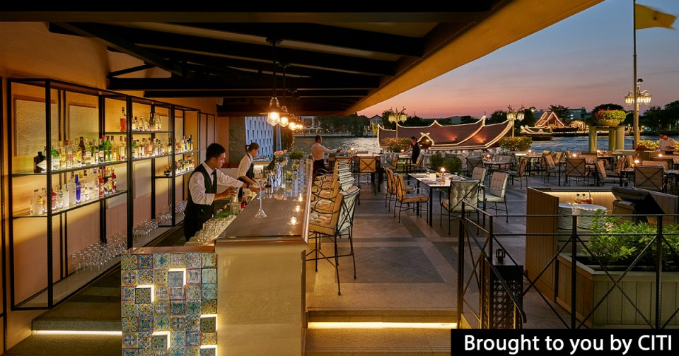 Riverside on the Chao Phraya means alfresco terraces, sweeping views and cool drinks as the sun sets