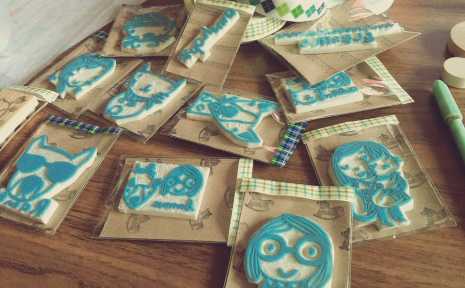 Eraser and rubber stamp carving is bangkok s latest craft